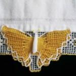 kelebek desenli havlu kenarı modeli