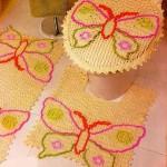 kelebek işlemeli klozet takımı model