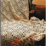 krem dantel yatak örtüsü