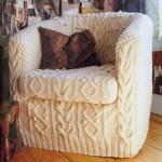 krem rengi farklı bir koltuk örtüsü modeli