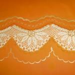 krem rengi oymalı dantel pike takımı modeli