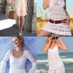 krem tığ işi dantel elbise örneği-tile