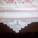 kuş desenli dantel havlu kenarı modeli