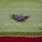 kurdela nakışlı havlu ve havlu kenarı dantel  dizaynları