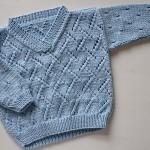 mavi V yakalı bebek kazağı
