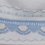 mavi beyaz havlu kenarı modeli
