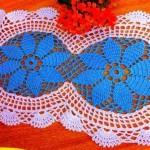 mavi beyaz uzun dantel örneği