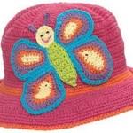 mavi kelebekli pembe bebek şapka modeli