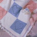 mavi pembe kalpli bebek battaniyesi modeli