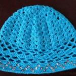 mavi pullu bebek şapkası modeli