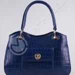 mavi timsah derisi çanta modeli