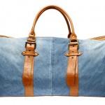 mini bavul görünümlü kot çanta modeli