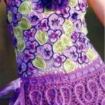 mor çiçek motifli şık bluz modeli