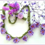 mor çiçekli kolye dizaynı