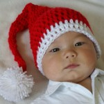 noel baba ponponlu bebek şapka