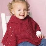 ordo renkli kapşonlu bebek panço modeli