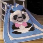 panda desenli bebek battaniyesi modeli
