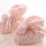 pembe ponponlu bebek patiği