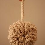 ponpon şeklinde yapılmış lif modeli