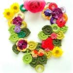 rengarenk çiçekli kolye dizaynları