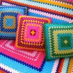 rengarenk örgü koltuk örtüsü modeli
