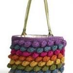 renk renk örgü çanta modeli