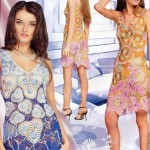 renkli dantel elbise dizaynı