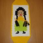 sarı örgü saçlı kız desenli şirin lif örneği