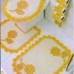 sarı beyaz dizayn klozet takım modeli