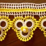 sarı beyaz halkalı havlu kenarı