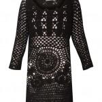 siyah örgü elbise model