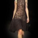 siyah düz örgü elbise örneği