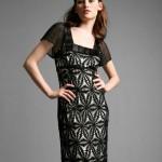 siyah dantel kolları tül abiye elbise modeli