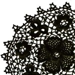 siyah dantel sehpa örtüsü