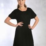 siyah el örgüsü elbise modelleri