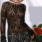 siyah modern şık bluz örneği