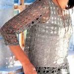 tığ işi floş bluz modeli