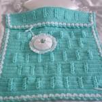 turkuaz renkli küçül bebek battaniyesi modeli
