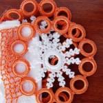 turuncu çok halkalı havlu kenarı