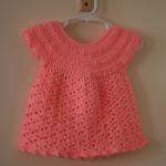 turuncu örgü bebek bluzu modeli