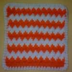 turuncu beyaz zigzaglı lif örneği