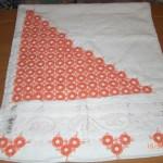 turuncu halkalı havlu kenarı örneği