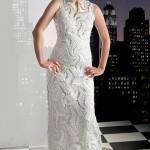 uzun dantel örgü elbise dizaynları