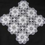 yıldız çiçekli dantel salon takımı