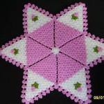 yıldız şeklinde çiçek motifli lila lif modeli
