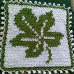 yaprak desenli yeşil beyaz lif modeli