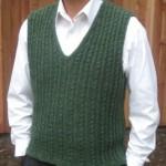 yeşil örgü erkek süveter modeli