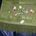 yeşil kurdelalı havlu kenarı model