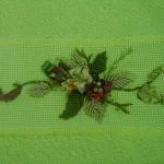 yeşil kurdela nakışı ve sarma havlu örneği