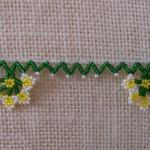 yeşil sarı boncuk oyası örneği
